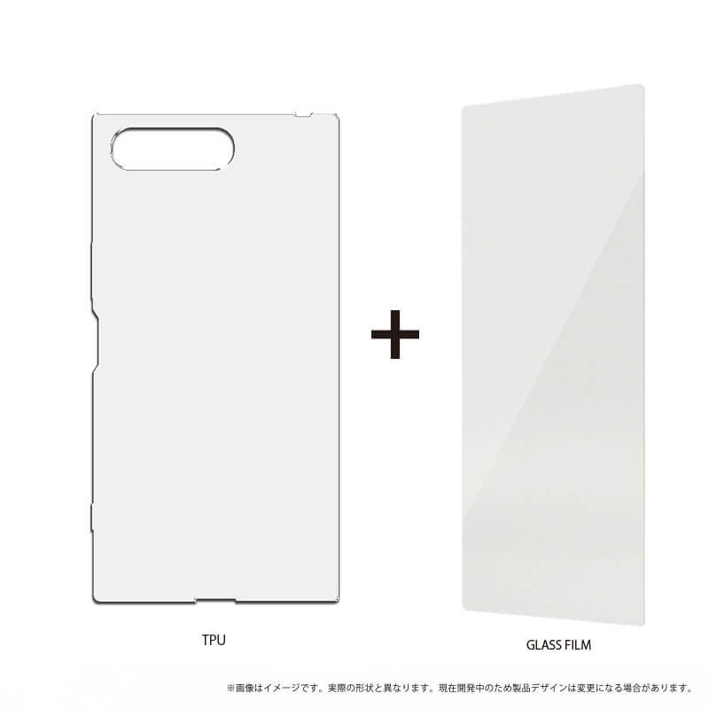 Xperia(TM) XZ Premium SO-04J ガラスフィルム+ソフトケース セット 「GLASS + CLEAR SOFT」 クリア