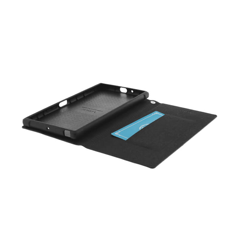 Xperia(TM) XZ Premium SO-04J 薄型PUレザーケース「PRIME」 ブラック