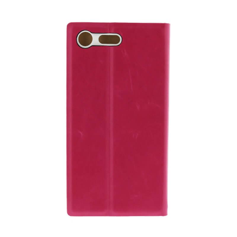 Xperia(TM) XZ Premium SO-04J 薄型PUレザーケース「PRIME」 ピンク
