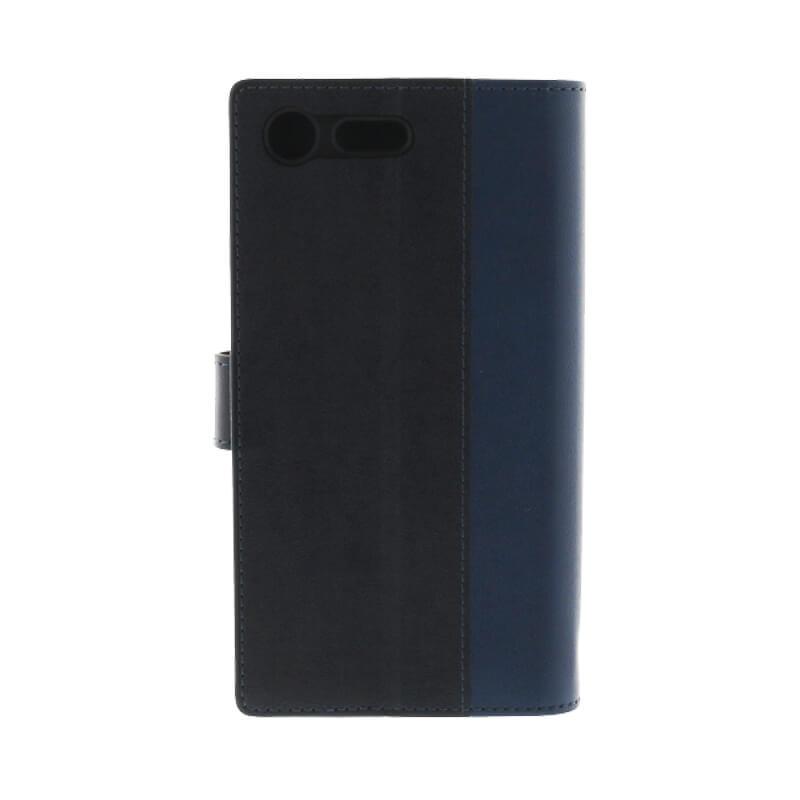 Xperia(TM) XZ Premium SO-04J 上質PUレザーブックケース「PREMIER」 ネイビー
