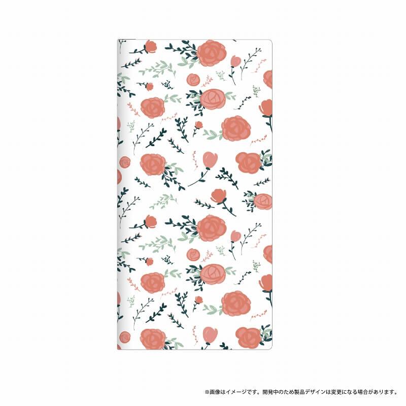 AQUOS R SH-03J/SHV39/SoftBank 薄型デザインPUレザーケース「Design+」 Flower ローズ