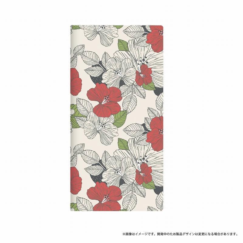 AQUOS R SH-03J/SHV39/SoftBank 薄型デザインPUレザーケース「Design+」 Flower モダン
