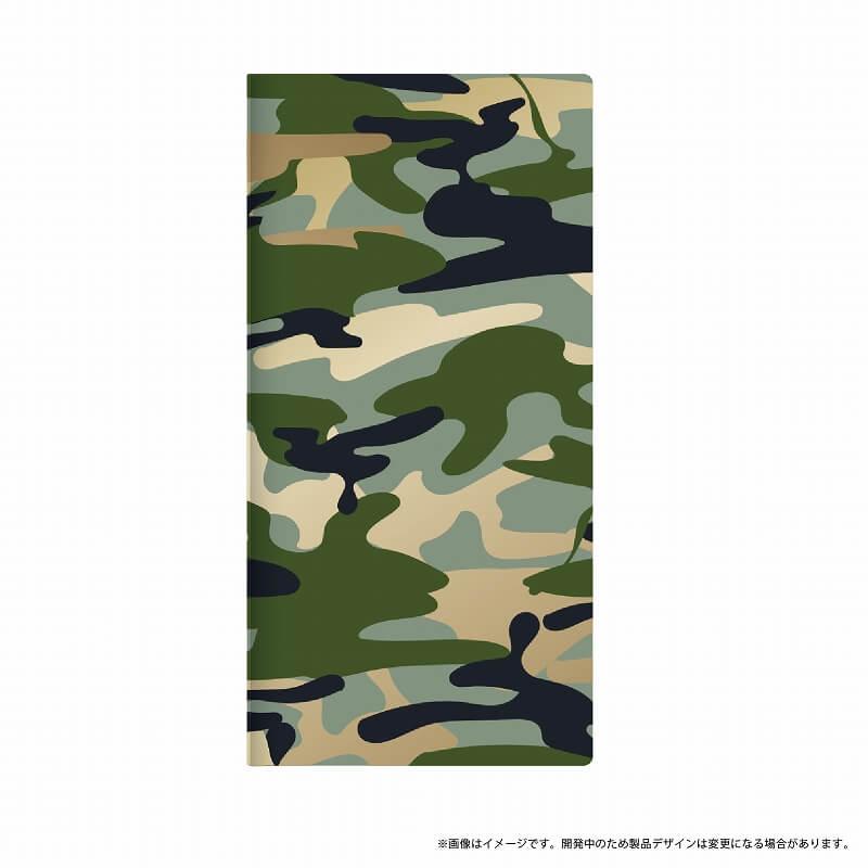 AQUOS R SH-03J/SHV39/SoftBank 薄型デザインPUレザーケース「Design+」 カモフラージュ グリーン