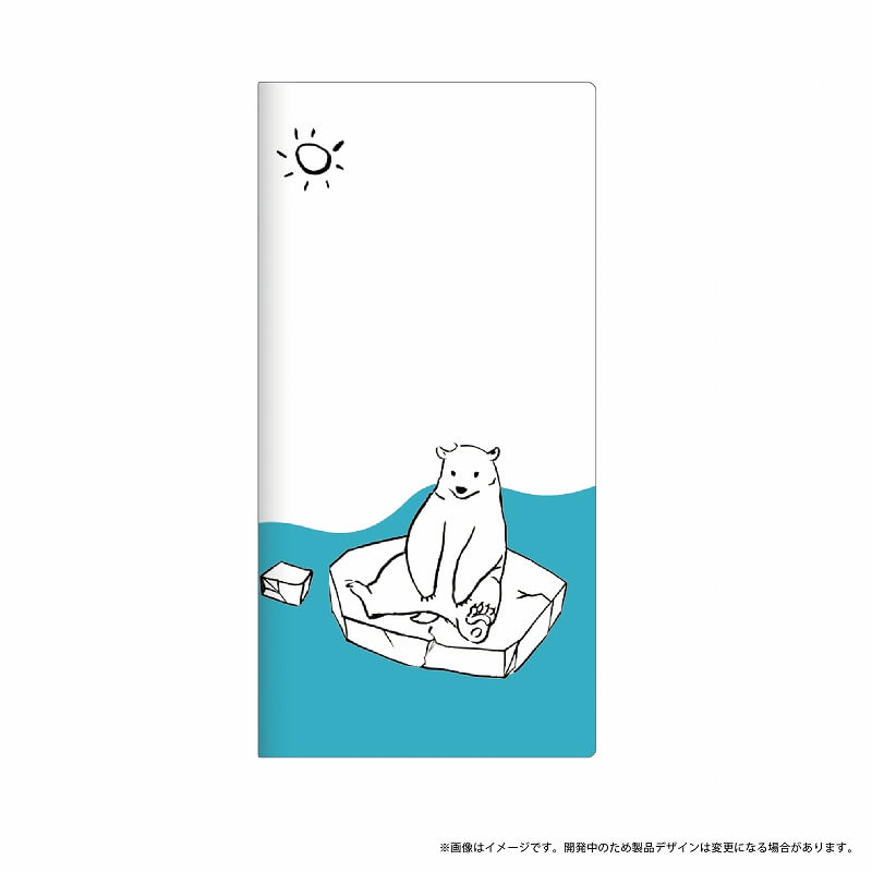 AQUOS R SH-03J/SHV39/SoftBank 薄型デザインPUレザーケース「Design+」 シロクマ