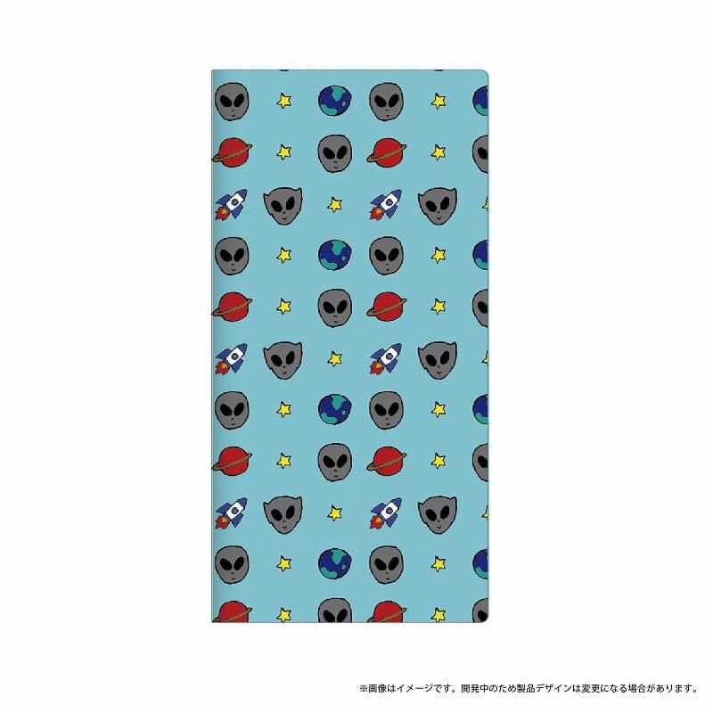 AQUOS R SH-03J/SHV39/SoftBank 薄型デザインPUレザーケース「Design+」 宇宙人
