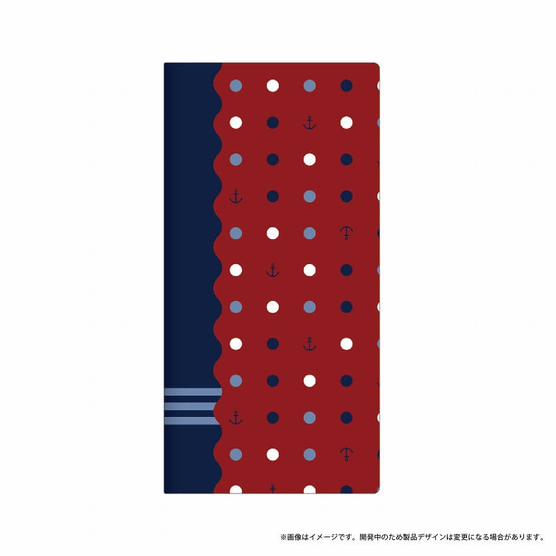 AQUOS R SH-03J/SHV39/SoftBank 薄型デザインPUレザーケース「Design+」 マリン 水玉