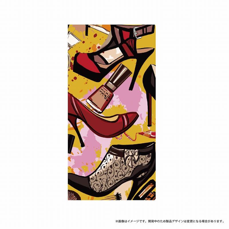 AQUOS R SH-03J/SHV39/SoftBank 薄型デザインPUレザーケース「Design+」 ハイヒール
