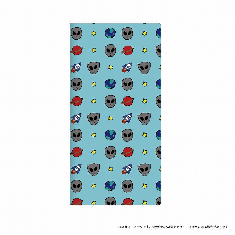 Xperia(TM) XZ/XZs SO-03J/SOV35/SoftBank 薄型デザインPUレザーケース「Design+」 宇宙人