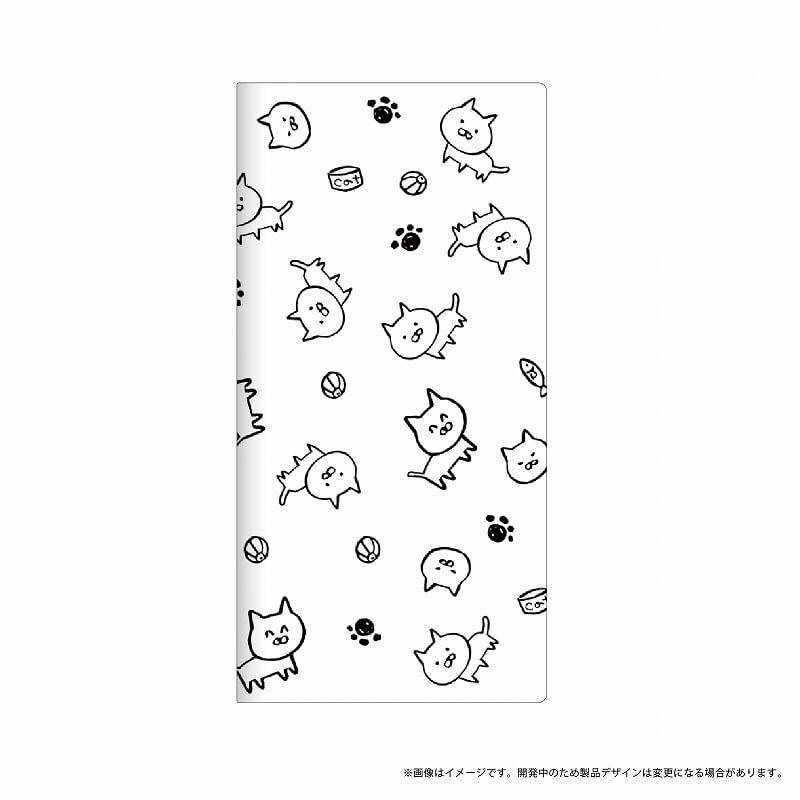 Galaxy S8+ SC-03J/SCV35 薄型デザインPUレザーケース「Design+」 ねこ