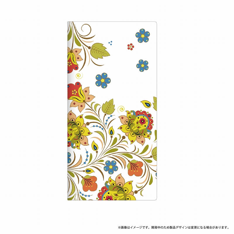 Galaxy Feel SC-04J 薄型デザインPUレザーケース「Design+」 Flower ポップ
