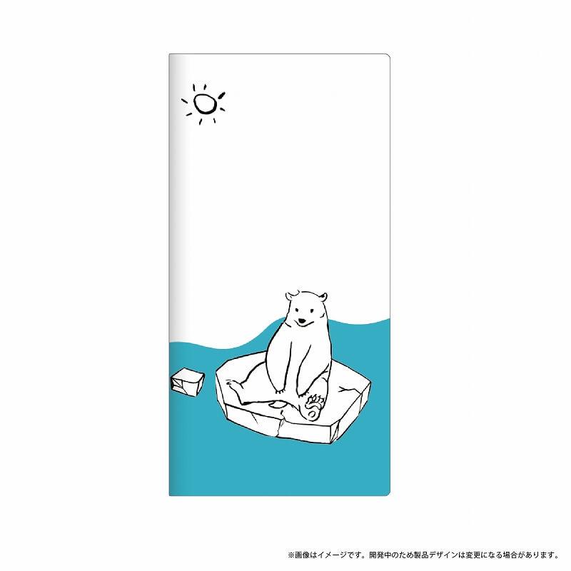 Galaxy Feel SC-04J 薄型デザインPUレザーケース「Design+」 シロクマ