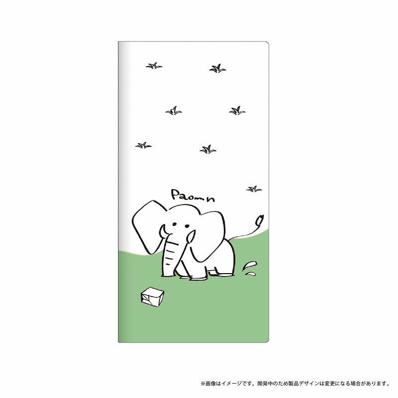 Galaxy Feel SC-04J 薄型デザインPUレザーケース「Design+」 ゾウ