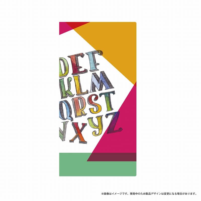 Galaxy Feel SC-04J 薄型デザインPUレザーケース「Design+」 カラフル アルファベット