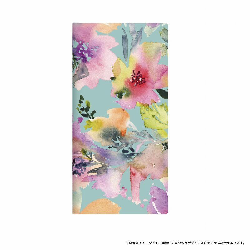 arrows Be F-05J 薄型デザインPUレザーケース「Design+」 Flower カラフル