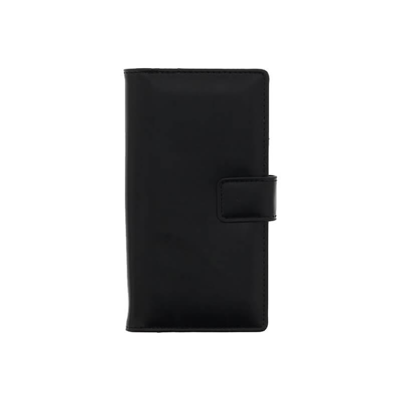 □Xperia(TM) XZ/XZs SO-03J/SOV35/SoftBank PUレザーブックケース「Precious」 (スリムTPUケース) ブラック