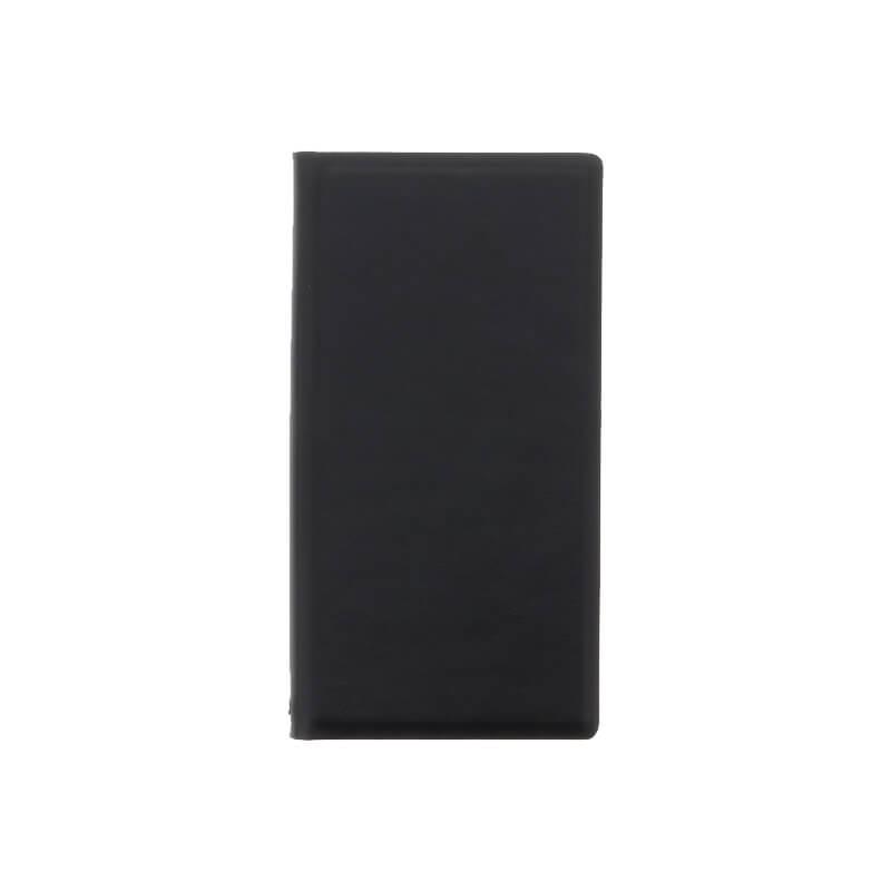 □Xperia(TM) XZ/XZs SO-03J/SOV35/SoftBank 薄型PUレザーケース「PRIME」 (スリムTPUケース) ブラック
