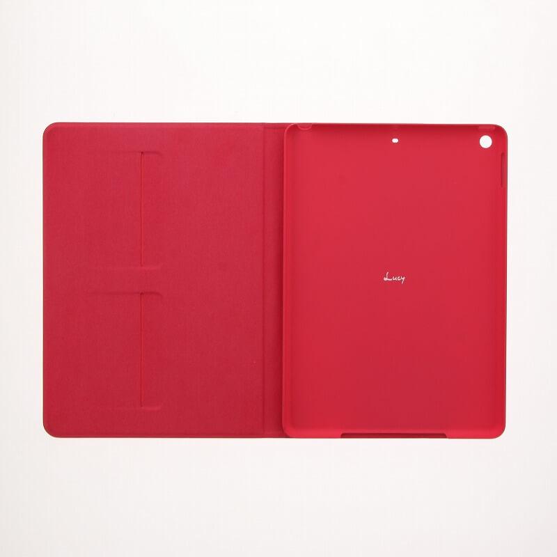 iPad 2017 9.7inch/iPad 2018 9.7inch 【Lucy】ツートン手帳型ケース/ピンク