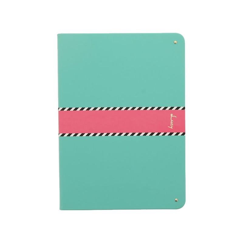 iPad 2017 9.7inch/iPad 2018 9.7inch 【Lucy】ツートン手帳型ケース/グリーン
