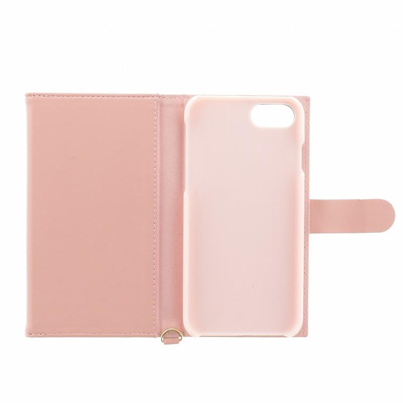 iPhone 8/7【Lucy】スカラップデザイン/ウォレット型ケース/ピンク