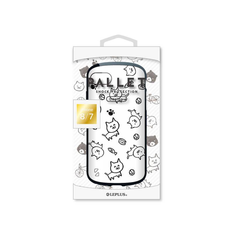iPhone 8/7 耐衝撃ハイブリッドケース「PALLET Design」 ねこ