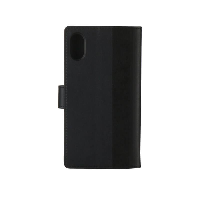 iPhone X 上質PUレザーブックケース「PREMIER」 ブラック