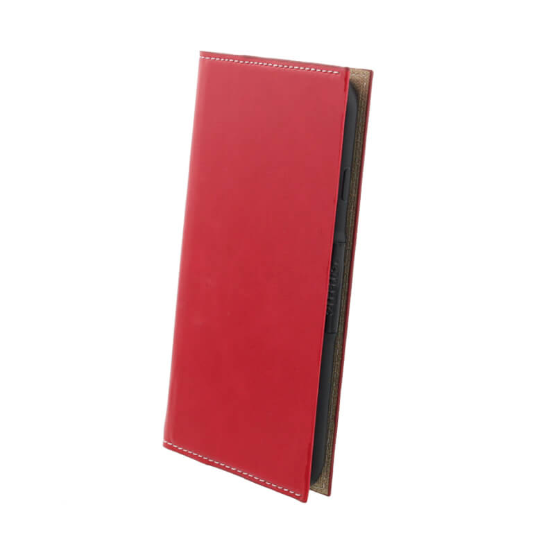 iPhone X 薄型PUレザーフラップケース「PRIME Smart Flap」(オートスリープ対応) レッド