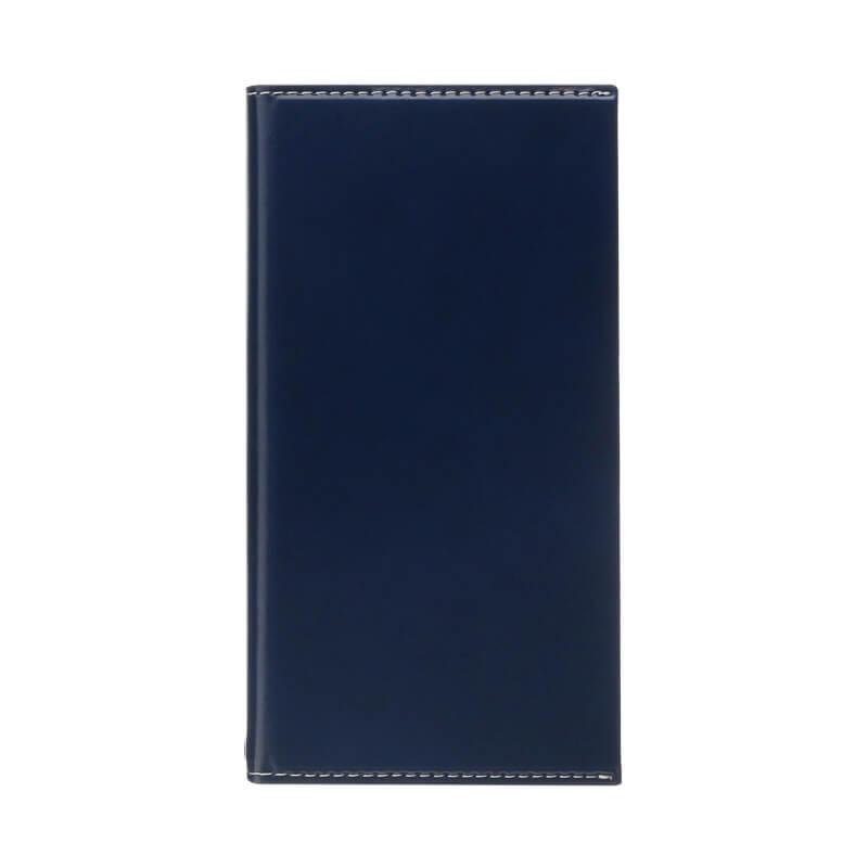 iPhone X 薄型PUレザーフラップケース「PRIME Smart Flap」(オートスリープ対応) ネイビー