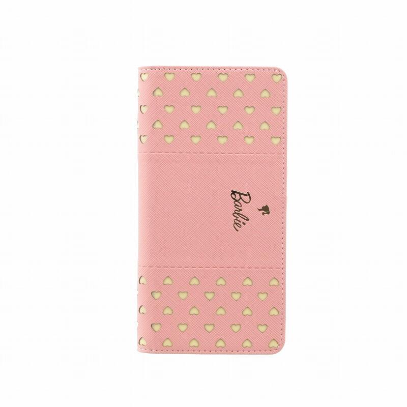 iPhone XS/iPhone X Barbie Design/パンチング手帳型ケース/ピンク