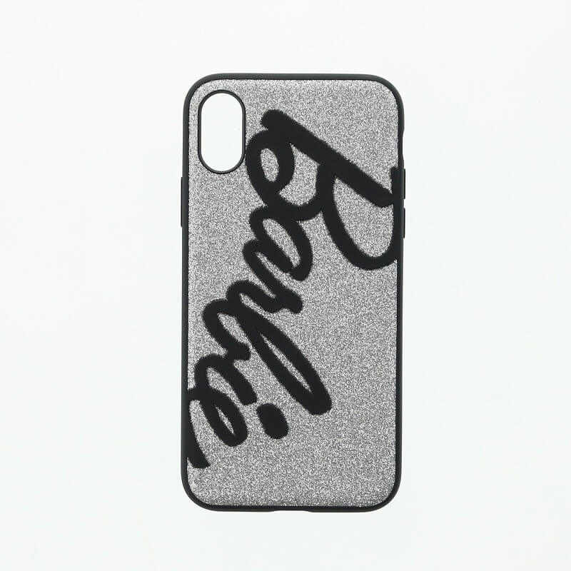 iPhone X/Barbie Design/3Dソフトケース/シルバー