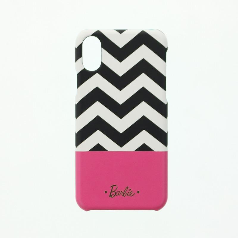 iPhone X/Barbie Design/PUレザーケース/ブラック