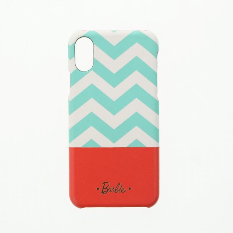iPhone X/Barbie Design/PUレザーケース/ミント