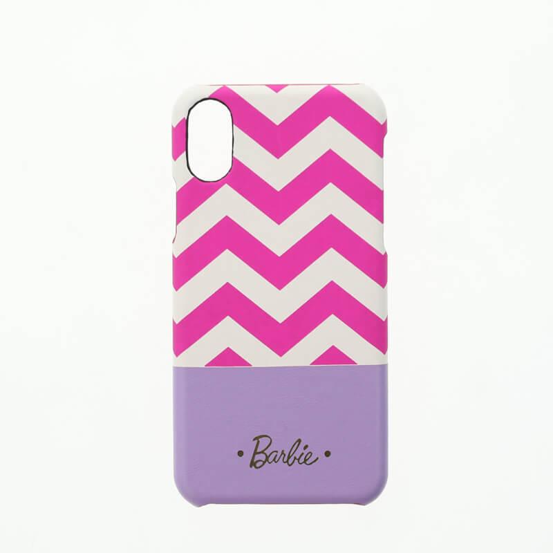 iPhone X/Barbie Design/PUレザーケース/ピンク