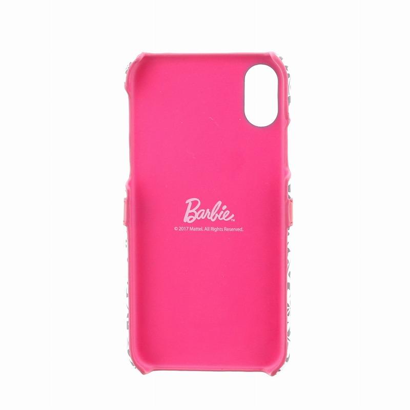 iPhone X/Barbie Design/ベルト付PUレザーケース/A