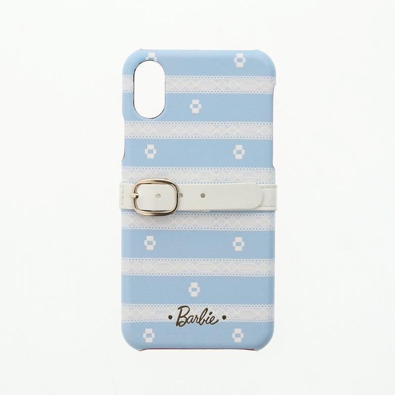 iPhone X/Barbie Design/ベルト付PUレザーケース/C