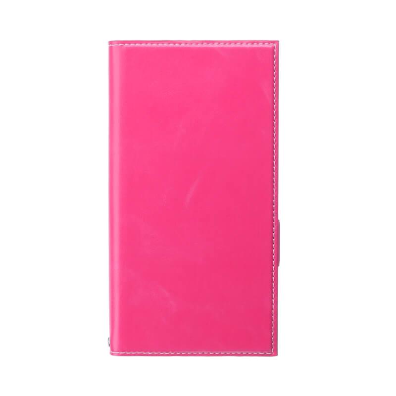Xperia(TM) XZ1 SO-01K/SOV36/SoftBank 薄型PUレザーフラップケース「PRIME」 ピンク