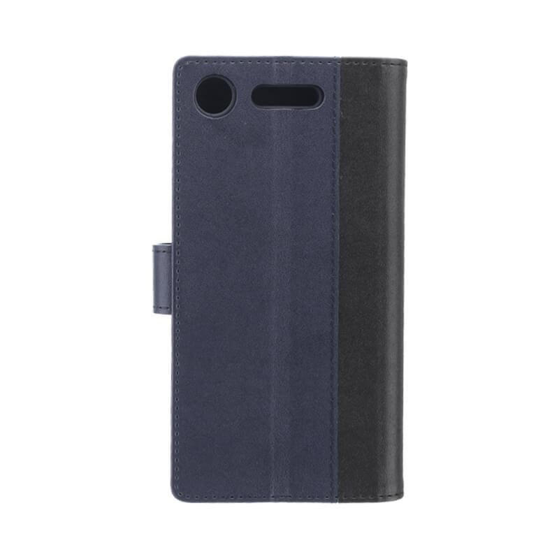 Xperia(TM) XZ1 SO-01K/SOV36/SoftBank 上質PUレザーブックケース「PREMIER」 ブラック