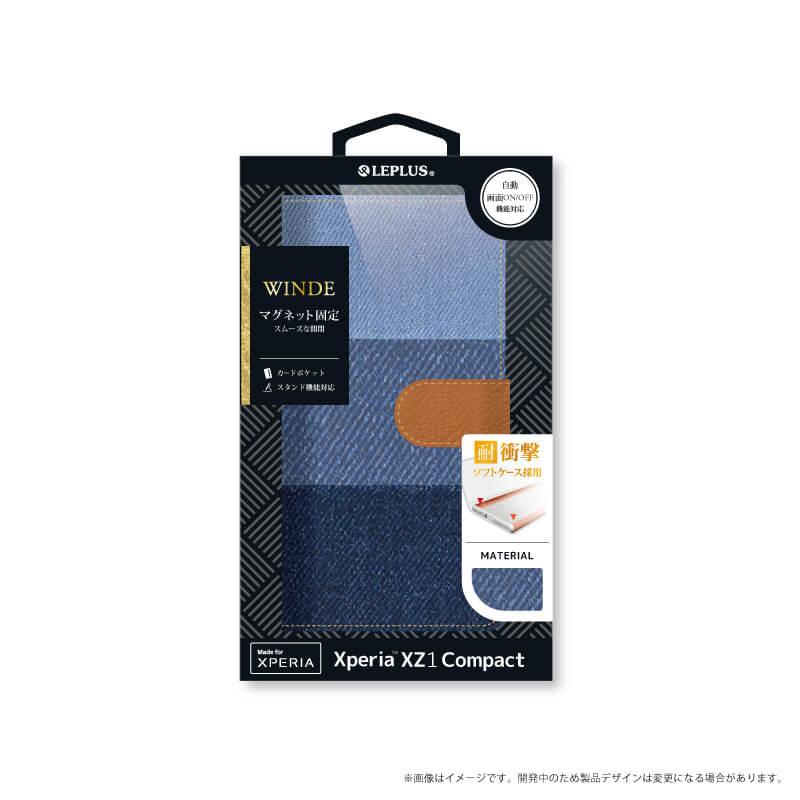 Xperia(TM) XZ1 Compact SO-02K デニムフラップケース「WINDE」 3色デニム