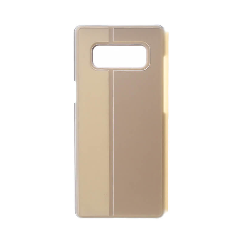 Galaxy Note8 SC-01K/SCV37 透明フラップケース「TOUCH FLAP」 ゴールド