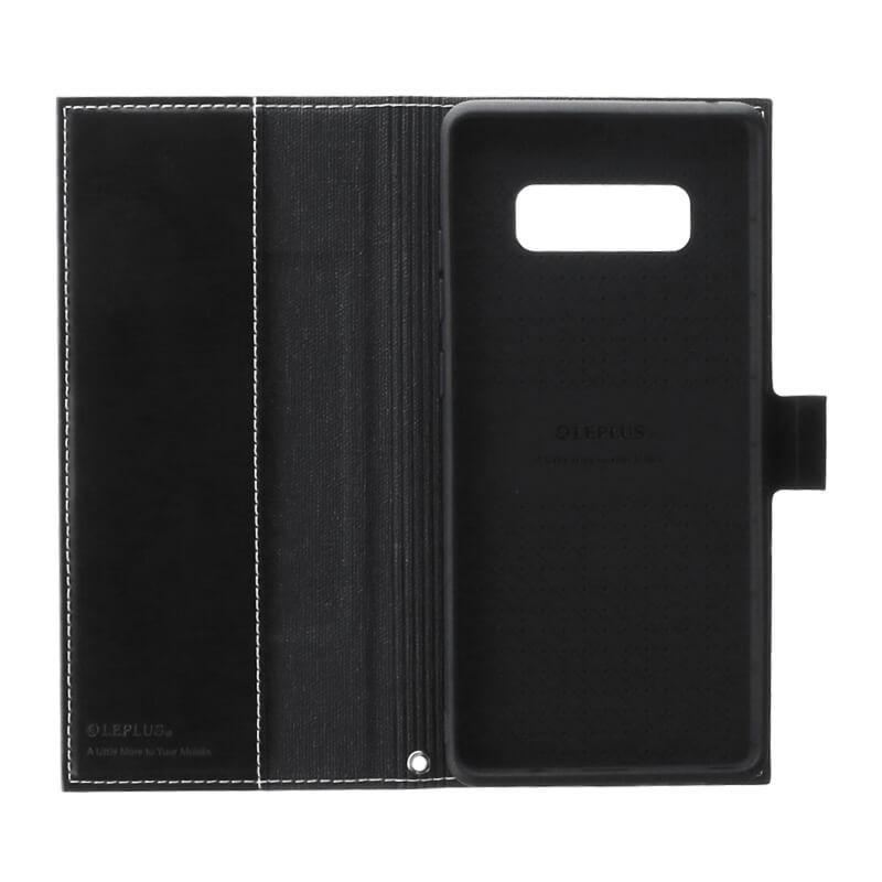 Galaxy Note8 SC-01K/SCV37 薄型PUレザーフラップケース「PRIME」 ブラック