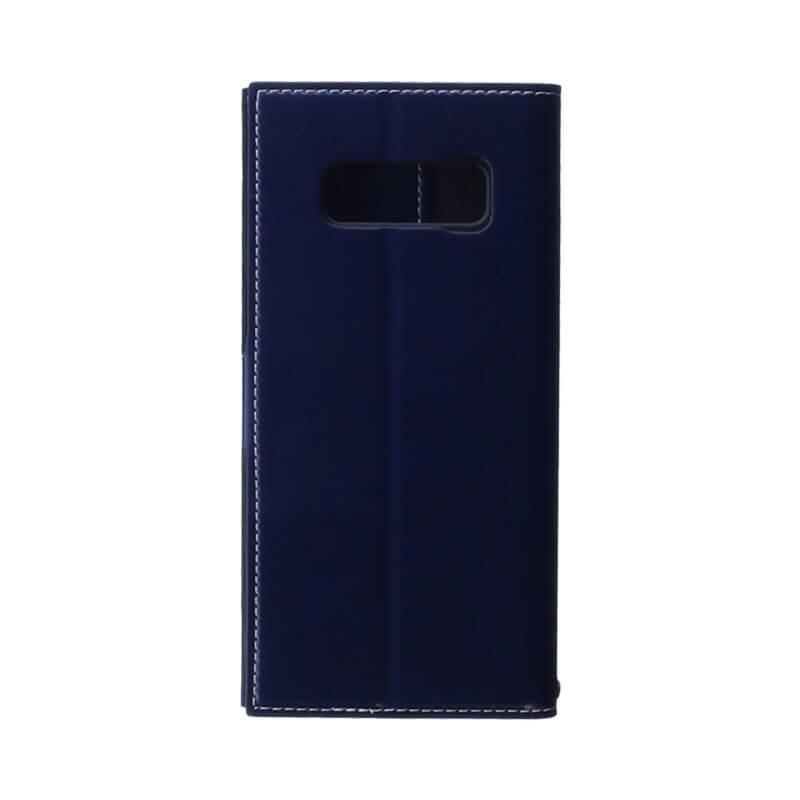 Galaxy Note8 SC-01K/SCV37 薄型PUレザーフラップケース「PRIME」 ネイビー