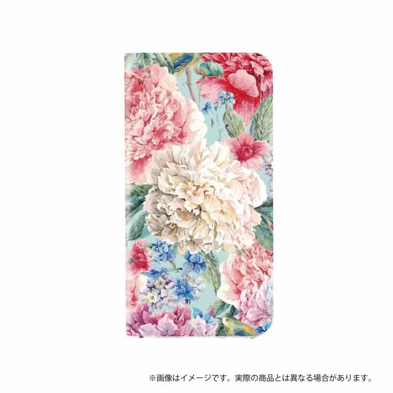 らくらくスマートフォン me F-03K 薄型デザインPUレザーケース「Design+」  Flower  エレガント