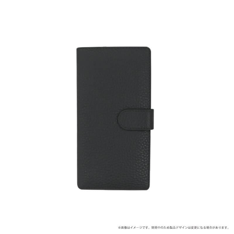 らくらくスマートフォン me F-03K 本革ケース「Genuine Leather Flap」 ブラック