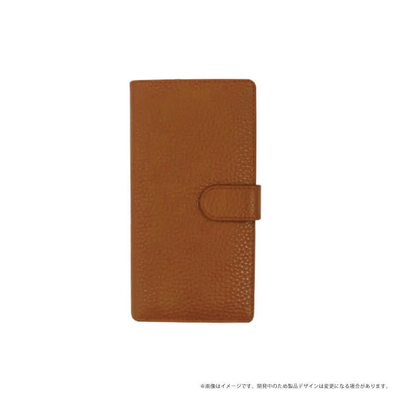 らくらくスマートフォン me F-03K 本革ケース「Genuine Leather Flap」 キャメル