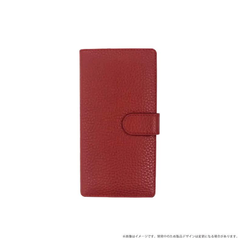 らくらくスマートフォン me F-03K 本革ケース「Genuine Leather Flap」 レッド