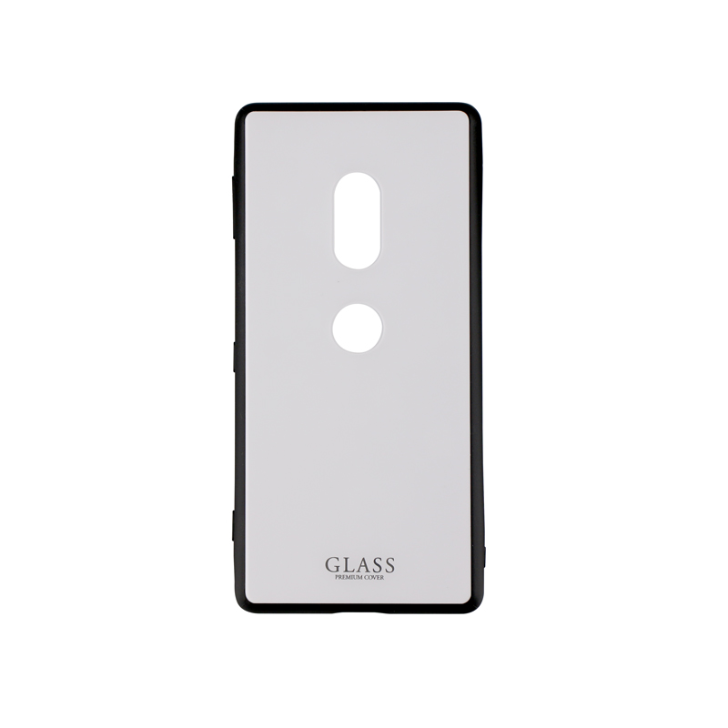 Xperia(TM) XZ2 SO-03K/SOV37/SoftBank 背面ガラスシェルケース「SHELL GLASS」 ホワイト