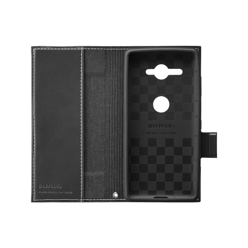 Xperia(TM) XZ2 Compact SO-05K 薄型PUレザーフラップケース「PRIME」 ブラック
