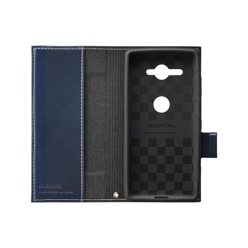Xperia(TM) XZ2 Compact SO-05K 薄型PUレザーフラップケース「PRIME」 ネイビー