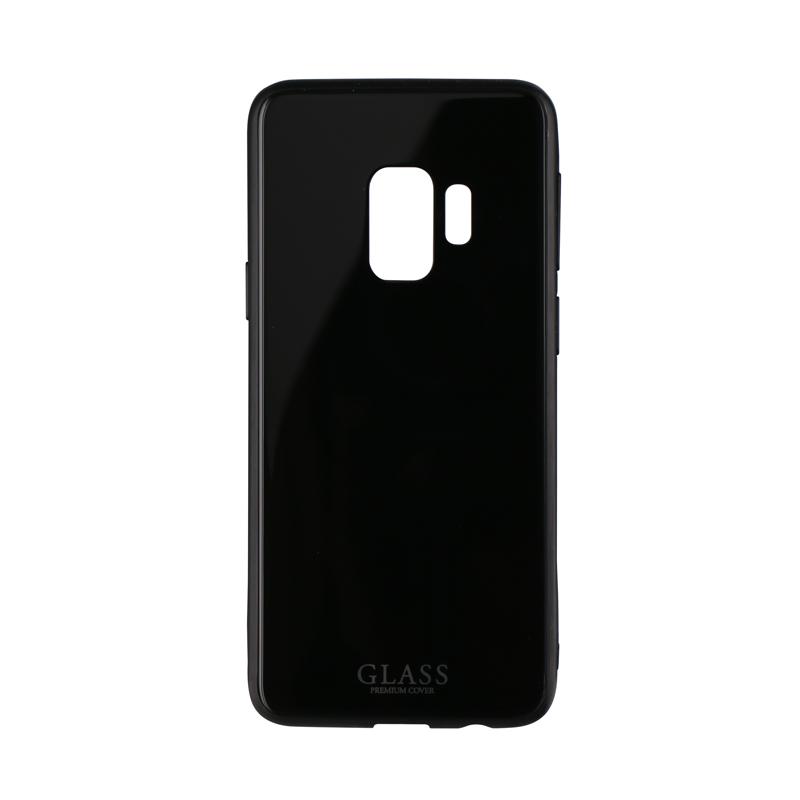 Galaxy S9 SC-02K/SCV38 背面ガラスシェルケース「SHELL GLASS」 ブラック