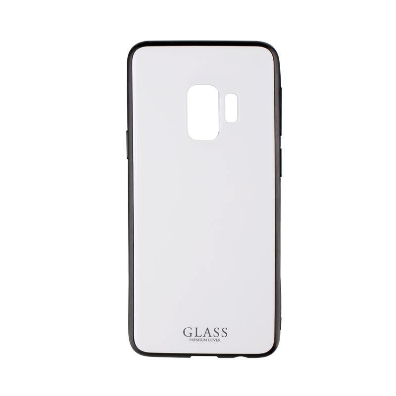 Galaxy S9 SC-02K/SCV38 背面ガラスシェルケース「SHELL GLASS」 ホワイト