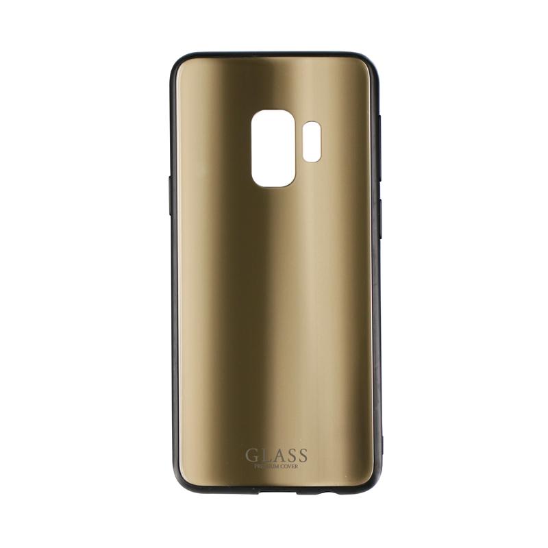 Galaxy S9 SC-02K/SCV38 背面ガラスシェルケース「SHELL GLASS」 ゴールド
